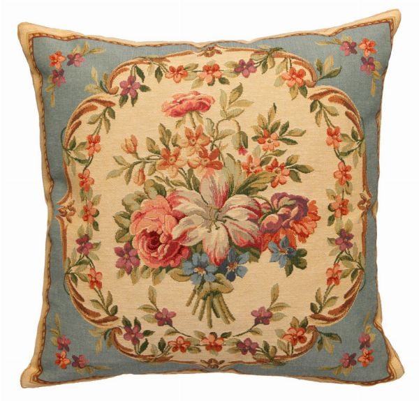 Phot of Flowers Tapestry Cushion Iii