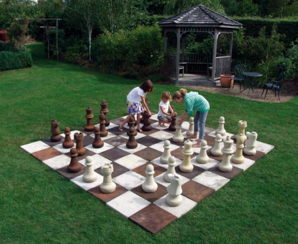 Photo of Full Set of Stone Chess Pieces (Without Board)