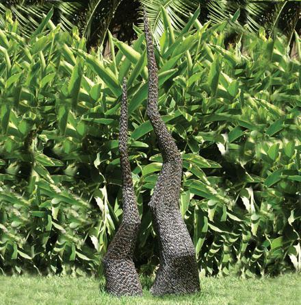 Photo of Garden Spire Sculpture (Medium) 150 cm
