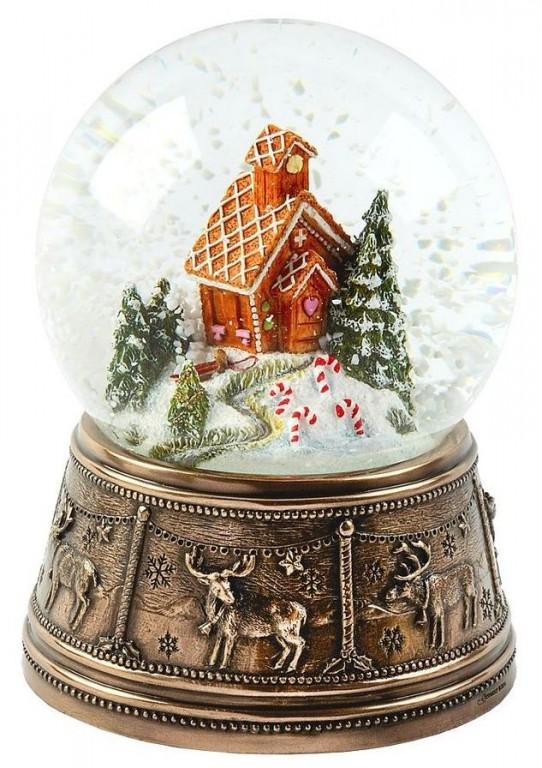 Photo of Gingerbread House Bronze Snow Globe