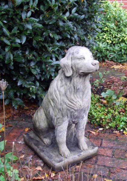 Photo of Golden Retriever Dog Stone Sculpture