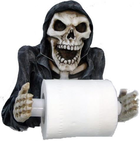 Photo of Grim Reaper Toilet Roll Holder
