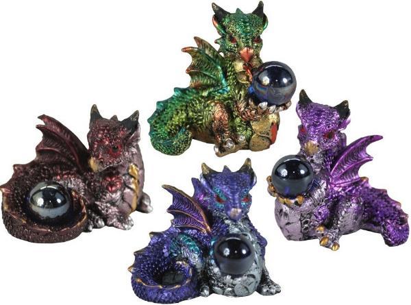 Photo of Hatchling Treasure Dragon Figurines (Set of 4)