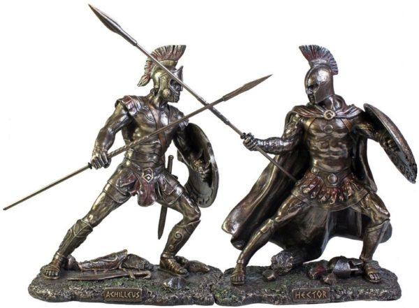 Photo of Hector Bronze Figurine 25 cm