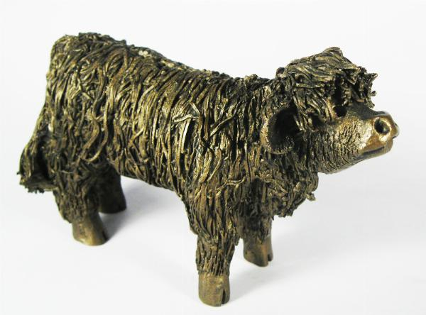 Photo of Highland Bull Calf Standing Figurine
