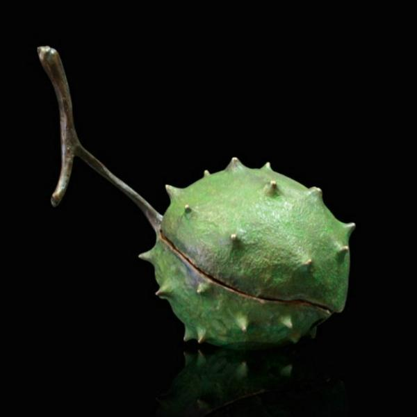 Photo of Large Conker Removable Conkers and Lid Bronze Sculpture (Limited Edition) Michael Simpson Nature Trail