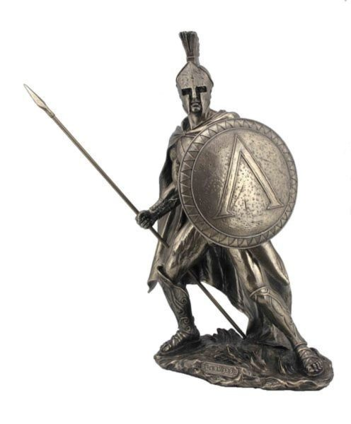 Photo of Leonidas King of Sparta Bronze Figurine 33 cm