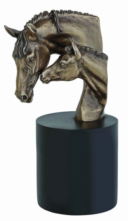 Photo of Mare and Foal Bronze Bust 28 cm D Dutton