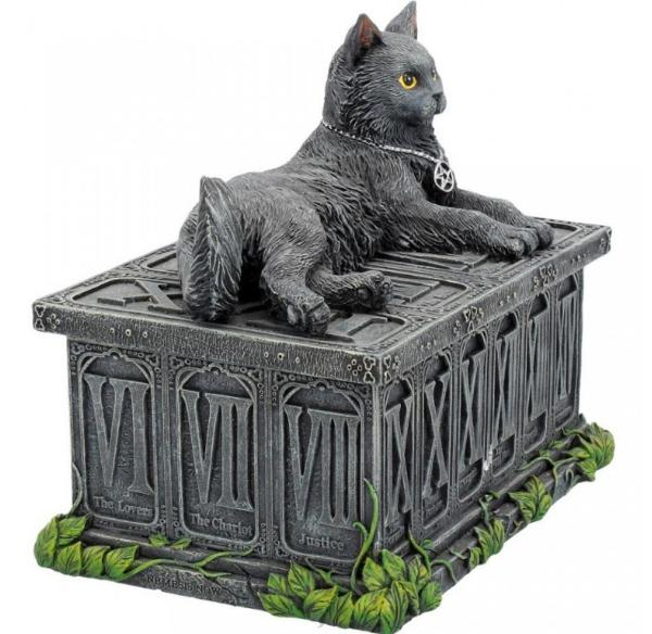 Photo of Midnight Black Cat Trinket Box Figurine