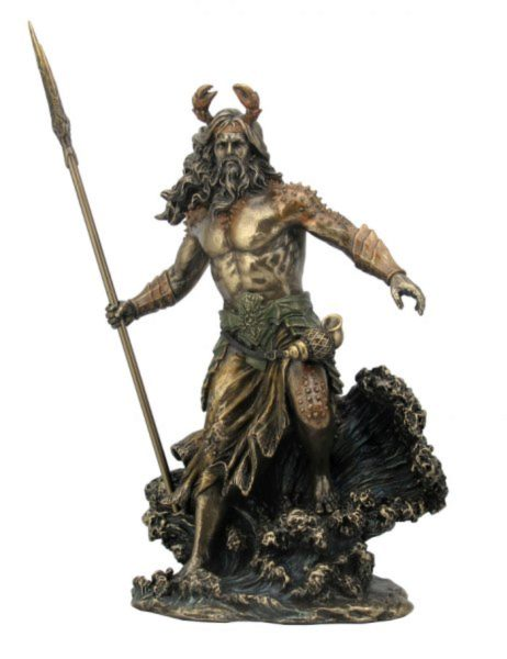 Photo of Oceanus Bronze Figurine 30 cm