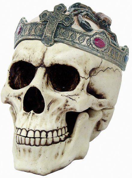 Photo of Old Dead King Skull Ornament 18 cm