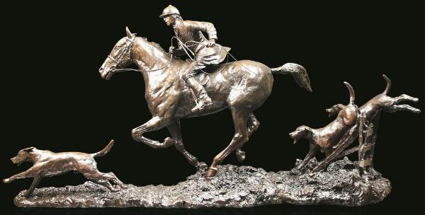 Photo of Open Fields Solid Bronze Hunting Figurine (Limited Edition) David Geenty 57 cm