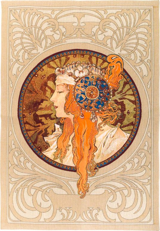 Phot of Rousse Byzantne By Mucha Wall Tapestry