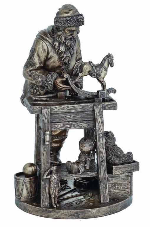 Photo of Santas Workbench Bronze Figurine 31cm