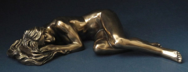 Photo of Slumber Nude Female Bronze Figurine