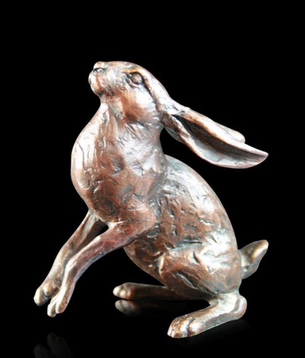Photo of Small Hare Moongazer Bronze Figurine (Limited Edition) Michael Simpson