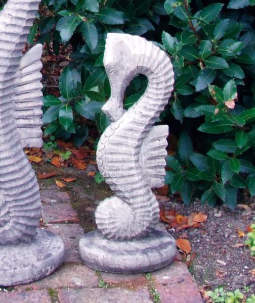 Small Stone Seahorse Garden Statue, Seahorse Garden Statue