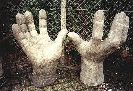 Photo of Stone Hands Left and Right (Set of 2)