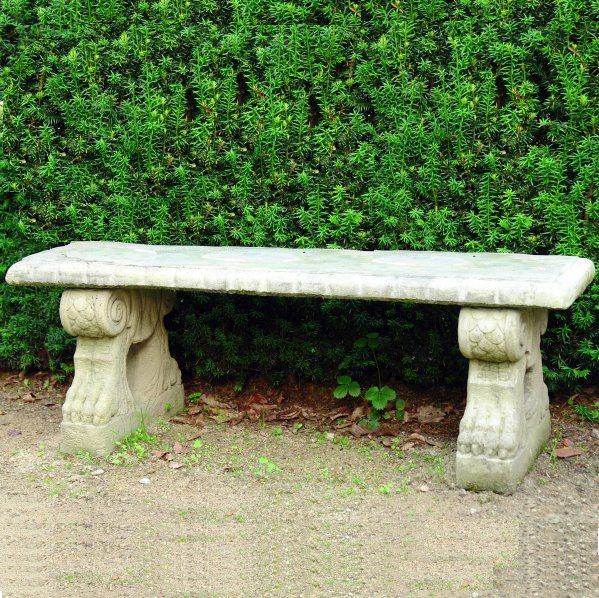 Photo of Straight Patterned Top On Scroll Stone Bench