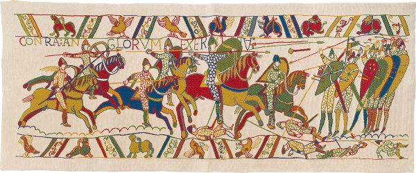 Phot of The Bayeux Tapestry Fragment Wall Hanging