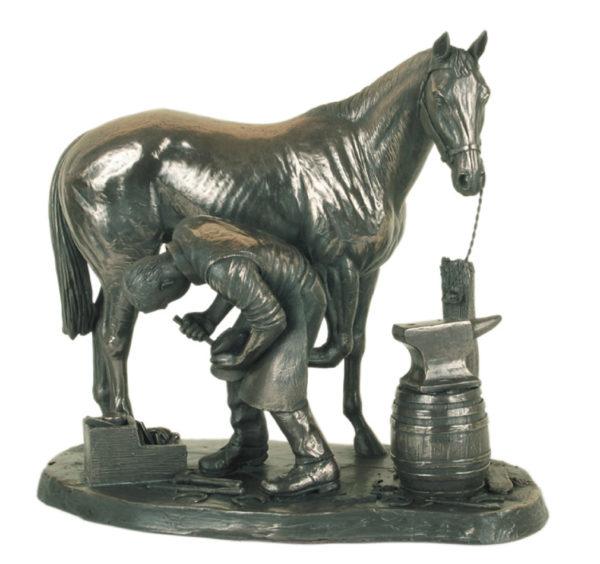 Photo of The Blacksmith Bronze Sculpture