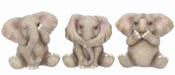 Photo of Three Wise Elephants Set of 3 Figurines Small