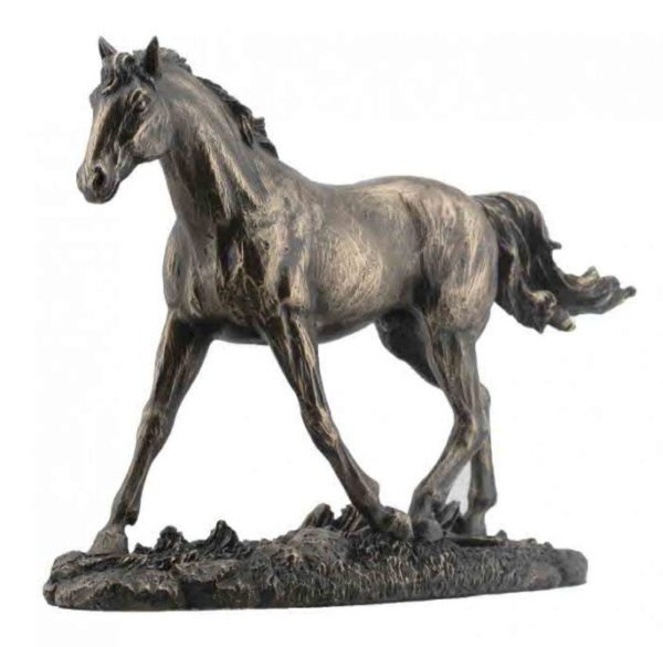 Photo of Trotting Horse Bronze Figurine 20 cm