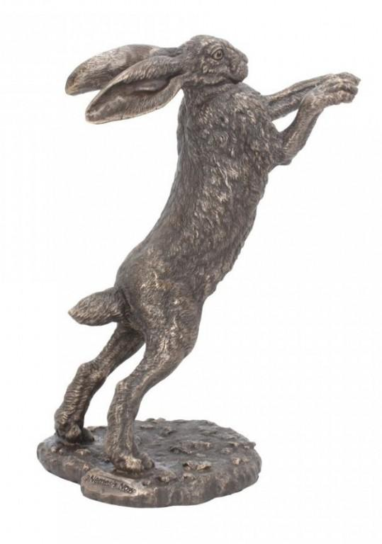 Photo of Upright Boxing Hare Might Bronze Figurine (Andrew Bill)