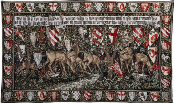 Phot of William Morris Coat Of Arms Wall Tapestry