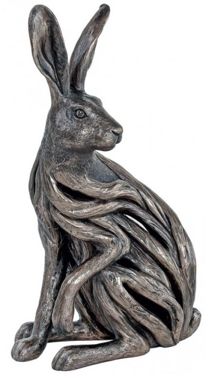 Photo of Alert Hare Bronze Sculpture 38 cm Large