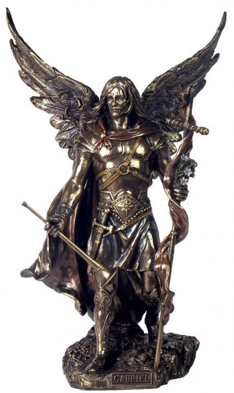 Photo of Archangel Gabriel Male Bronze Figurine 34 cm