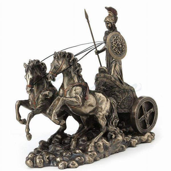 Photo of Athena in Chariot Bronze Figurine