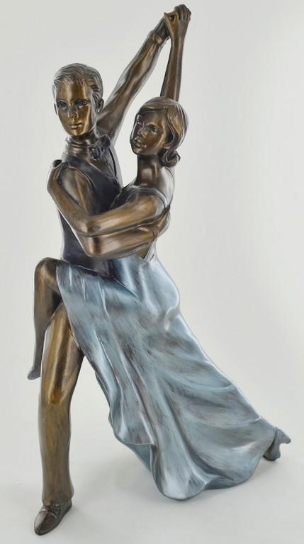 Photo of Ballroom Rumba Dancing Cold Cast Bronze Figurine