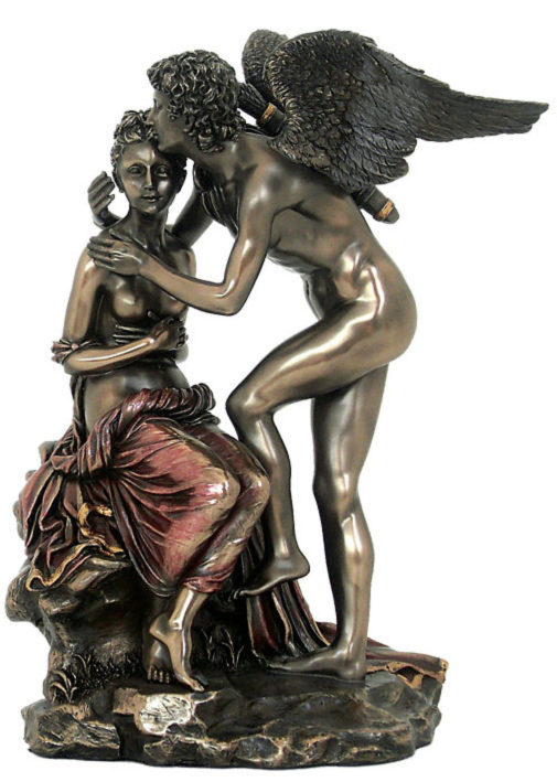 Photo of Cupid and Psyche Bronze Figurine