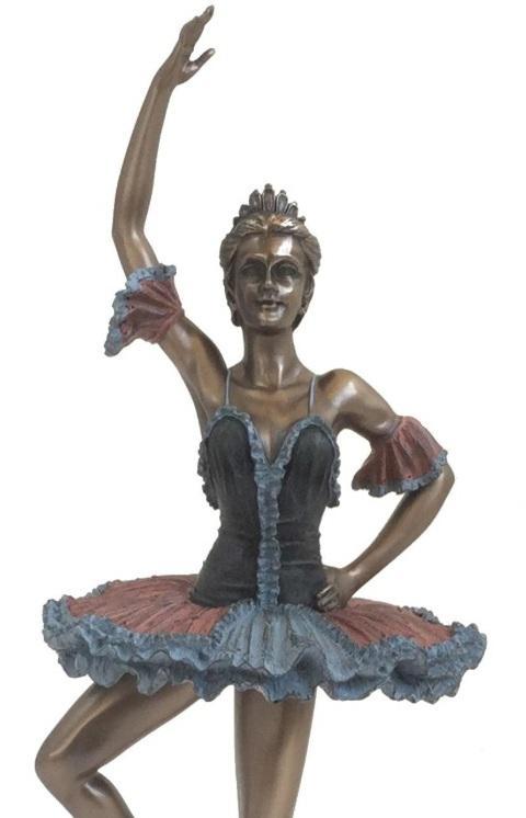Photo of Dancing Ballerina Bronze Figurine 32 cm