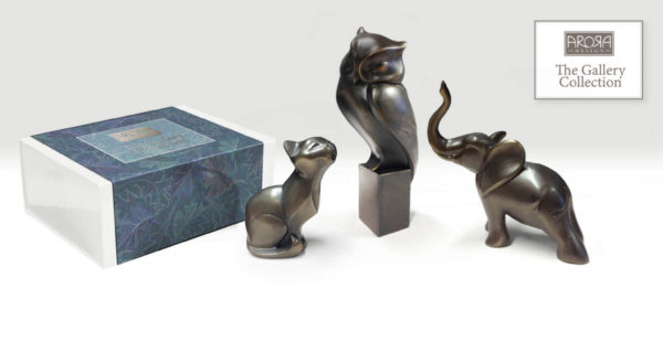 Photo of Elephant Stretching Bronze Figurine (Arora Gallery Design Collection)