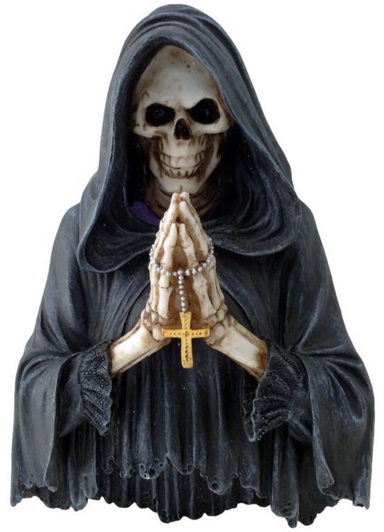 Photo of Final Prayer Reaper Wall Plaque Light Feature 25cm