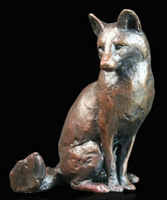Photo of Fox Sitting Bronze Figurine (Limited Edition) Michael Simpson