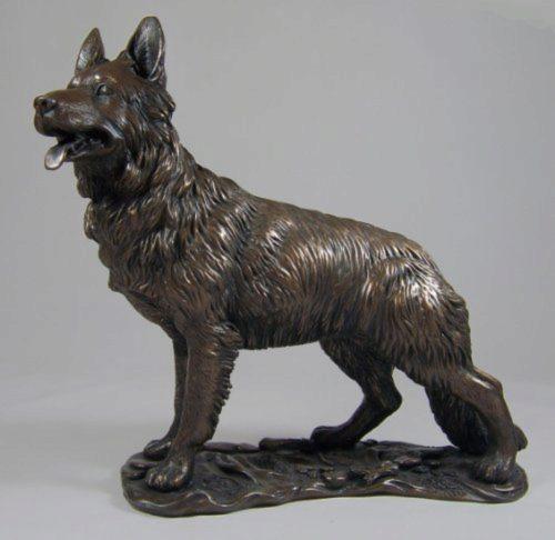 Photo of German Shepherd Bronze Dog Sculpture
