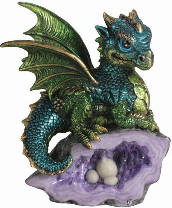 Photo of Green Nest Guardian Dragon Figurine