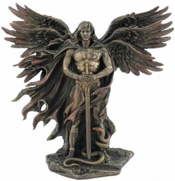 Photo of Guardian Angel Bronze Figurine 28 cm