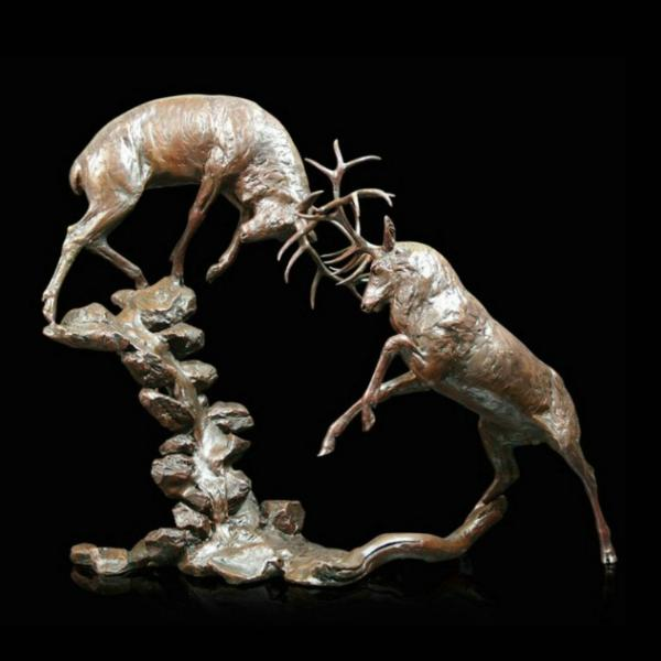 Photo of Highland Falls Stags Bronze Sculpture (Limited Edition) Michael Simpson Large