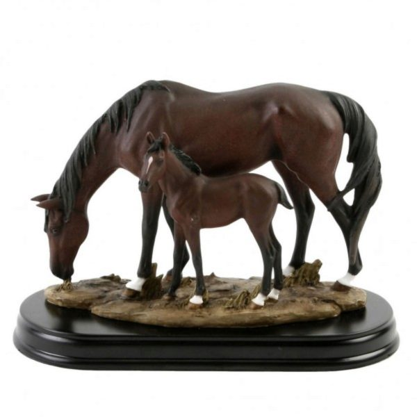 Photo of Horse and Foal on Wooden Base (Juliana)