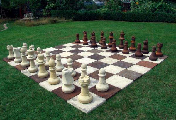 Photo of Knight Chess Piece Stone Ornament