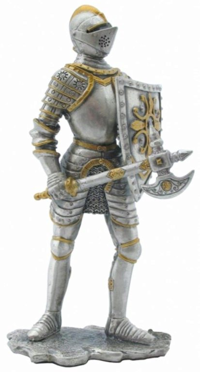 Photo of Knight with Battleaxe circa 1555 Pewter Figurine