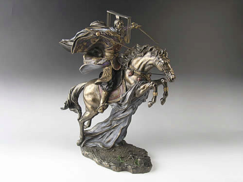 Photo of Liu Bei Bronze Figurine Romance of the Three Kingdoms