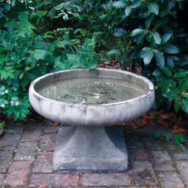 Photo of Low Pure Stone Birdbath