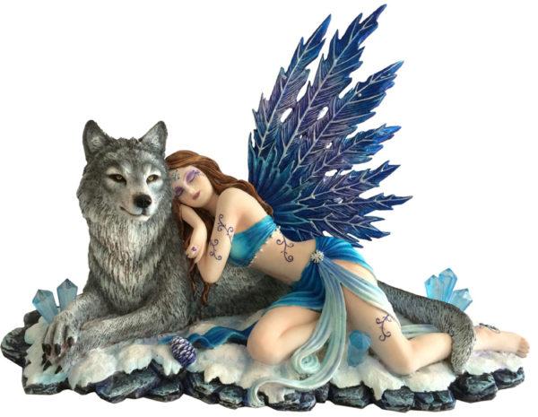 Photo of Lupiana and the Wolf Figurine 34cm