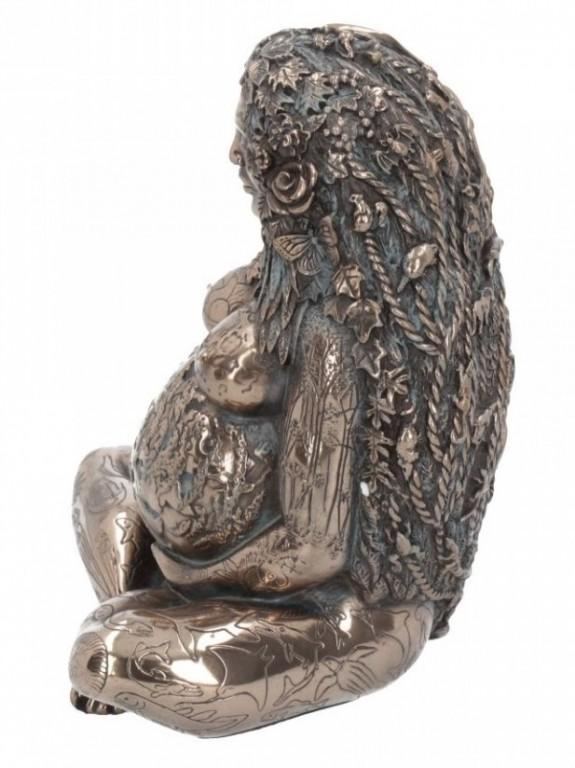 Photo of Mother Earth Bronze Figurine Oberon Zells Millennial Gaia