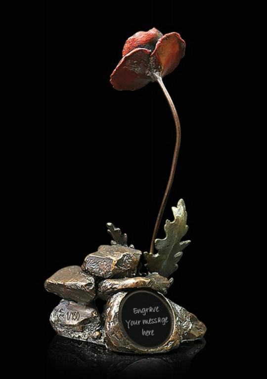 Photo of Poppy with Custom Engraving Bronze Figurine (Limited Edition) Keith Sherwin